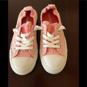 Converse Pink Eyelet (US Ladies size 6, UK size 4)